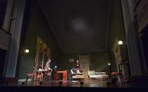 GASLIGHT   by Patrick Hamilton   design: William Dudley   lighting: Chris Davey   director: Lucy Bailey stage,set,whole,interior,Victorian,proscenium   with Paul Hunter (Rough), Tara Fitzgerald (Bella...