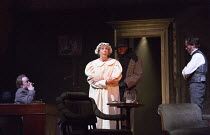 GASLIGHT   by Patrick Hamilton   design: William Dudley   lighting: Chris Davey   director: Lucy Bailey   flashback to the murder of Alice Barlow - left: Paul Hunter (Rough)   right: Jonathan Firth (J...
