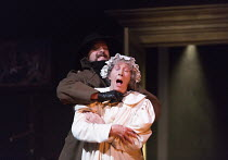 GASLIGHT   by Patrick Hamilton   design: William Dudley   lighting: Chris Davey   director: Lucy Bailey   flashback to the murder of Alice Barlow Theatre Royal / Royal & Derngate, Northampton, England...