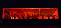 THE HAIRY APE   by Eugene O'Neill   design: Stewart Laing   lighting: Mimi Jordan Sherin   choreography: Aletta Collins   director: Richard Jones   stoking the ship's furnace, lit by the flames - far...