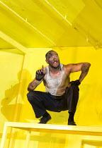 THE HAIRY APE   by Eugene O'Neill   design: Stewart Laing   lighting: Mimi Jordan Sherin   choreography: Aletta Collins   director: Richard Jones Bertie Carvel (Yank) Old Vic Theatre (OV), London SE1...