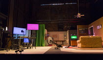 RoosevElvis   by the TEAM / Brooklyn,NY, USA   set design: Nick Vaughan   costumes: Kristen Sieh   lighting: Austin Smith   director: Rachel Chavkin stage,set,empty,screen,American,USA,TV,rowing,exerc...