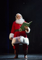 Mark McKerracher (Santa) in ELF THE MUSICAL opening at the Dominion Theatre / London W1 on 05/11/2015    book: Thomas Meehan & Bob Martin   music: Matthew Sklar   lyrics: Chad Beguelin   director & ch...