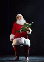 Mark McKerracher (Santa) in ELF THE MUSICAL opening at the Dominion Theatre / London W1 on 05/11/2015  book: Thomas Meehan & Bob Martin   music: Matthew Sklar   lyrics: Chad Beguelin   director & chor...