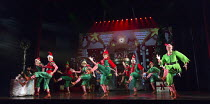 chorus / company  in ELF THE MUSICAL opening at the Dominion Theatre / London W1 on 05/11/2015  book: Thomas Meehan & Bob Martin   music: Matthew Sklar   lyrics: Chad Beguelin   director & choreograph...