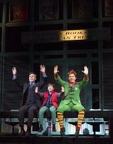 l-r: Joe McGann (Walter Hobbs), Ewan Rutherford (Michael Hobbs), Ben Forster (Buddy) in ELF THE MUSICAL opening at the Dominion Theatre / London W1 on 05/11/2015  book: Thomas Meehan & Bob Martin   mu...