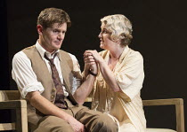 Charles Edwards (Henry Trebell), Sylvestra le Touzel (Frances Trebell) in WASTE by Harley Granville Barker opening at the Lyttelton Theatre, National Theatre (NT), London SE1 on 10/11/2015       desig...