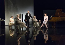 l-r: Emerald O'Hanrahan (Lucy Davenport), Sylvestra le Touzel (Frances Trebell), Louis Hilyer (Russell Blackborough), Doreen Mantle (Countess Mortimer), Olivia Williams (Amy O'Connell) in WASTE by Har...