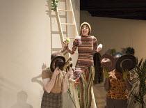 Natalie Klamar (Snake) in I WANT MY HAT BACK by Jon Klassen at the Temporary Theatre, National Theatre (NT), London SE1 opening on 16/11/2015   book & lyrics: Joel Horwood   music: Arthur Darvill   de...