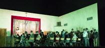 PAGLIACCI   by Leoncavallo  conductor: Antonio Pappano   set design: Paolo Fantin   costumes: Carla Teti   lighting: Alessandro Carletti   director: Damiano Michieletto   performance of �Pagliacco'...