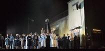 CAVALLERIA RUSTICANA   by Mascagni   conductor: Antonio Pappano   set design: Paolo Fantin   costumes: Carla Teti   lighting: Alessandro Carletti   director: Damiano Michieletto   villagers and priest...