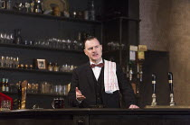 David Morrissey (Harry) in HANGMEN by Martin McDonagh director: Matthew Dunster design: Anna Fleischle lighting: Joshua Carr   Royal Court Theatre production / opening at Wyndham's Theatre, London WC2...