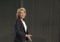 Lisa Dillon (Elizabeth Hapgood) in HAPGOOD by Tom Stoppard opening at Hampstead Theatre, London NW3 on 09/12/2015   design: Ashley Martin Davis lighting: James Farncombe director: Howard Davies   Dona...