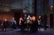 EVENING AT THE TALK HOUSE   by Wallace Shawn   set design: The Quay Brothers   costumes: Soutra Gilmour   lighting: Neil Austin   director: Ian Rickson   l-r: Josh Hamilton (Robert), Naomi Wirthner (...