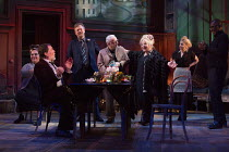 EVENING AT THE TALK HOUSE   by Wallace Shawn   set design: The Quay Brothers   costumes: Soutra Gilmour   lighting: Neil Austin   director: Ian Rickson   l-r: Naomi Wirthner (Annette), Stuart Milligan...