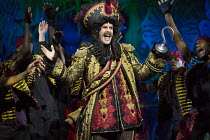 Marcus Brigstocke (Captain Hook) in PETER PAN opening at the New Wimbledon Theatre, London SW19 on 08/12/2015   director: Ian Talbot   � Donald Cooper/Photostage   donald@photostage.co.uk   ref/0035