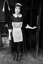 AN INSPECTOR CALLS   by J B Priestley   design: Susan Ayres   lighting: Roger Weaver   director: Bernard Miles ~~Jeanette Ranger (Edna)~Mermaid Theatre, London EC4   08/1973~ Donald Cooper/Photostage...