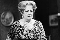 AN INSPECTOR CALLS   by J B Priestley   design: Susan Ayres   lighting: Roger Weaver   director: Bernard Miles ~~Elizabeth Tyrrell (Sybil Birling)~Mermaid Theatre, London EC4   11/1973~ Donald Cooper/...