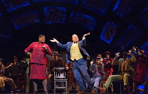 'Sit Down You're Rockin' The Boat': Lorna Gayle (General Cartwright), Gavin Spokes (Nicely Nicely Johnson) in GUYS AND DOLLS a Chichester Festival Theatre 2014 production opening at the Savoy Theatre,...