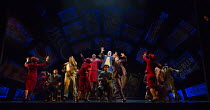 'Sit Down You're Rockin' The Boat' - centre: Lorna Gayle (General Cartwright - in red), Gavin Spokes (Nicely Nicely Johnson) in GUYS AND DOLLS a Chichester Festival Theatre 2014 production opening at...