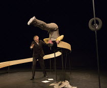 l-r: Jos Houben, Marcello Magni in MARCEL   by Jos Houben & Marcello Magni   opening at the Shaw Theatre, London NW1 on 09/01/2016 as part of the 2016 London International Mime Festival (LIMF'16)   a...