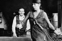 THE BANANA BOX   by Eric Chappell   design: Adrian Vaux   lighting: Joe Davis   director: David Scase   Leonard Rossiter (Rooksby), Frances de la Tour (Ruth Jones)  Hampstead Theatre Club, London N...