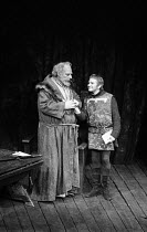 WHEN THOU ART KING adapted from Shakespeare's HENRY IV parts i & ii and HENRY V by John Barton directed by John Barton & Gareth Morgan l-r: Brewster Mason (Sir John Falstaff), Michael Williams (Prince...
