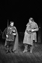 WHEN THOU ART KING adapted from Shakespeare's HENRY IV parts i & ii and HENRY V by John Barton directed by John Barton & Gareth Morgan l-r: Michael Williams (Prince Hal), Brewster Mason (Sir John Fals...