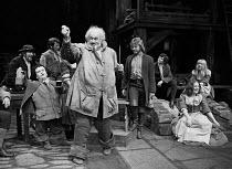 HENRY IV pt.i by Shakespeare   set design: John Collins   costumes: Elizabeth Haffenden & Joan Bridge   lighting: David Adams   director: Ron Pember   front centre: Bernard Miles (Sir John Falstaff) t...