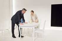 Richard Clothier (The Father / Peter), Gina McKee (The Mother / Anne) in THE MOTHER by Florian Zeller opening at the Tricycle Theatre, London NW6 on 26/01/2016   in a new translation by Christopher Ha...