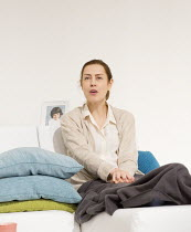 Gina McKee (The Mother / Anne) in THE MOTHER by Florian Zeller opening at the Tricycle Theatre, London NW6 on 26/01/2016   in a new translation by Christopher Hampton design: Mark Bailey lighting: Col...