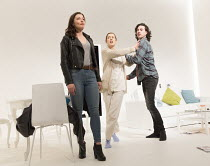 l-r: Frances McNamee (The Girl / Elodie), Gina McKee (The Mother / Anne), William Postlethwaite (The Son / Nicholas) in THE MOTHER by Florian Zeller opening at the Tricycle Theatre, London NW6 on 26/0...