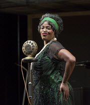 Sharon D Clarke (Ma Rainey) in MA RAINEY'S BLACK BOTTOM by August Wilson opening at the Lyttelton Theatre, National Theatre, London SE1 on 02/02/2016   design: Ultz lighting: Charles Balfour director:...