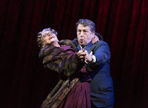 Tracie Bennett (Laura Henderson), Ian Bartholomew (Vivian Van Damm) in MRS HENDERSON PRESENTS opening at the Noel Coward Theatre, London WC2 on 19/02/2016 ~based on the film screenplay by Martin Sherm...