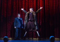 Ian Bartholomew (Vivian Van Damm), Tracie Bennett (Laura Henderson) in MRS HENDERSON PRESENTS opening at the Noel Coward Theatre, London WC2 on 19/02/2016 ~based on the film screenplay by Martin Sherm...