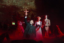 l-r: Jimmy Nail (Parson Nathaniel), Heidi Range (Beth), Michael Praed (George Herbert, The Journalist) in THE WAR OF THE WORLDS adapted by Doreen Wayne after H G Wells music: Jeff Wayne opening at the...