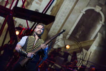 Daniel Bedingfield (The Artilleryman) in THE WAR OF THE WORLDS adapted by Doreen Wayne after H G Wells music: Jeff Wayne opening at the Dominion Theatre, London W1 on 17/02/2016         lyrics: Gary O...