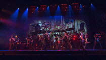 ensemble in THE WAR OF THE WORLDS adapted by Doreen Wayne after H G Wells music: Jeff Wayne opening at the Dominion Theatre, London W1 on 17/02/2016         lyrics: Gary Osborne set design: Ric Lipson...