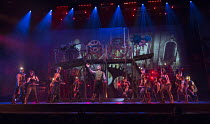 centre: Daniel Bedingfield (The Artilleryman) in THE WAR OF THE WORLDS adapted by Doreen Wayne after H G Wells music: Jeff Wayne opening at the Dominion Theatre, London W1 on 17/02/2016         lyrics...