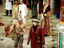 THE TEMPEST by Shakespeare Master of Design: Bjanka Ursulov Master of Music: Nigel Osborne Master of Play (director): Lenka Udovicki acknowledging audience applause at the end of the performance - fro...