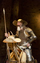 David Threlfall (Don Quixote) in DON QUIXOTE adapted by James Fenton from the novel by Miguel de Cervantes opening at the RSC Swan Theatre, Stratford-upon-Avon, England on 03/03/2016   a Royal Shakesp...