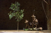 siesta: David Threlfall (Don Quixote) in DON QUIXOTE adapted by James Fenton from the novel by Miguel de Cervantes opening at the RSC Swan Theatre, Stratford-upon-Avon, England on 03/03/2016   a Royal...