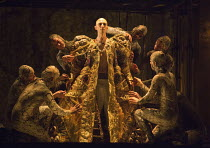 dressing the new Pharaoh: Anthony Roth Costanzo (Akhnaten)  in AKHNATEN by Philip Glass opening at English National Opera (ENO), London Coliseum WC2 on 04/03/2016   in association with Improbable  a c...