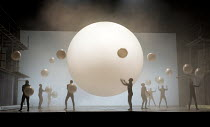 members of Gandini Juggling in AKHNATEN by Philip Glass opening at English National Opera (ENO), London Coliseum WC2 on 04/03/2016 in association with Improbable  a co-production with LA Opera conduct...