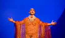 Anthony Roth Costanzo (Akhnaten) in AKHNATEN by Philip Glass opening at English National Opera (ENO), London Coliseum WC2 on 04/03/2016 in association with Improbable  a co-production with LA Opera co...