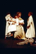 MACBETH  by Shakespeare   design: Bob Crowley   lighting: Mark Henderson   director: Adrian Noble ~Penny Downie (Lady Macduff) with Macduff's sons~Royal Shakespeare Company (RSC), Royal Shakespeare Th...