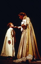 MACBETH  by Shakespeare   design: Bob Crowley   lighting: Mark Henderson   director: Adrian Noble ~Penny Downie (Lady Macduff) with Macduff's son~Royal Shakespeare Company (RSC), Royal Shakespeare The...
