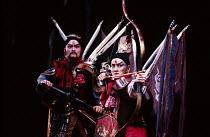 THE KINGDOM OF DESIRE by Lee Huei-min after Shakespeare's 'Macbeth' set design: Deng Kuen-yen & Chang Yi-cheng costumes: Lin Ching-ru lighting: Lin Keh-hua director: Wu Jing-jyi right: Wu Hsing-kuo (A...