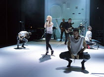 centre: Jane Horrocks in IF YOU KISS ME, KISS ME opening at the The Young Vic, London SE1 on 16/03/2016   conceived by Jane Horrocks & Aletta Collins design: Bunny Christie lighting: Andreas Fuchs dir...