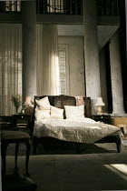 SWEET BIRD OF YOUTH   by Tennessee Williams   design: Rae Smith   lighting: Bruno Poet   director: Marianne Elliott   stage,set,empty,interior,bed,curtains,American,USA Old Vic Theatre (OV), London SE...